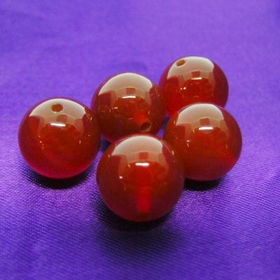 """《10ミリアップ》""""レッドメノウ""""両穴ビーズを一玉からお届け《パワーストーン・天然石・粒売り・バラ売り・10mmラウンドビーズ》"""