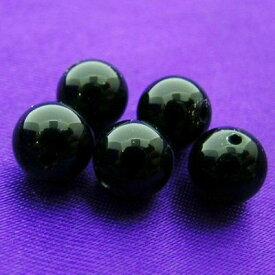 """《6ミリアップ》""""ブラックオニキス""""両穴ビーズを一玉からお届け《健康運、厄除けの石・パワーストーン・天然石・粒売り・バラ売り・6mmラウンドビーズ》"""
