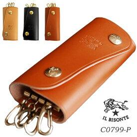 IL BISONTE イルビゾンテ キーケース 4連 キーリング 本革 レザー スナップボタンメンズ レディース 本国 正規品 C0799