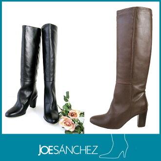 乔 · 桑切斯 [乔 · 桑切斯] 妇女高跟皮靴西班牙射击! 柔软的皮革靴!