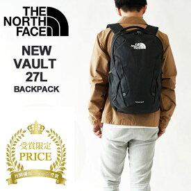 ノースフェイス リュック メンズ レディース THE NORTH FACE VAULT ヴォルト 27L バックパック デイパック バッグ ロゴ中央デザイン (NF0A3VY2) 今季モデル 本国 正規品