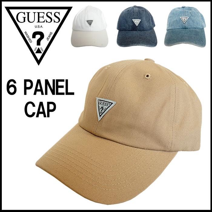 【2018 New】GUESS ゲス キャップ 帽子 6パネル BBキャップ ベースボールキャップ ロゴ デニム コットンツイル メンズ レディース ユニセックス 国内 【正規品】 MH0K8507MI/MH0K8508MI