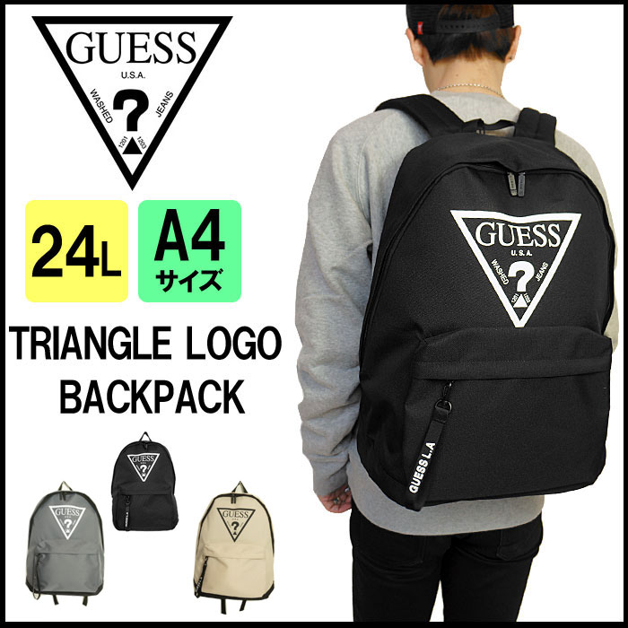 GUESS ゲス トライアングル ロゴ バックパック リュック リュックサック 男女兼用 国内 【正規品】 AH1A4A27 TRIANGLE LOGO BACKPACK メーカーPRICE:6,900yen(+tax) 【店頭受取対応商品】 カジュアルバッグ