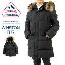 PYRENEX ピレネックス ダウンジャケット メンズ WINSTON FUR ジャケット ファーフード ダウン アウター リアルファー HMM021 BLACK ブラック 本国 正規品