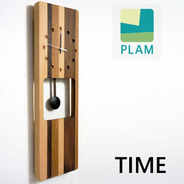 [全品対象5%OFFクーポン発行中]天然木の壁掛け時計 ウォールクロック モザイク 振り子 500 壁掛け 時計 木製 ビーチ+オーク+ウォルナットインテリア クロック HIDAKAGU/ラトレ(Latree)国内 【正規品】PL1TIM-0080500-MXOL TIME