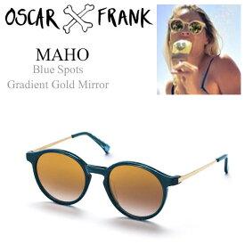 クーポンで11880円!【20%off】OSCAR & FRANK オスカー アンド フランク MAHO サングラス ボストン メンズ レディース 国内正規代理店アイテム 014BT Blue Spots/Gradient Gold Mirror