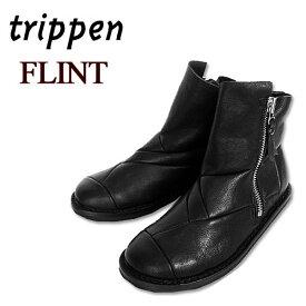 【20%off】トリッペン trippen レザーブーツ レディース FLINT アンクルブーツ 本革 サイドジップ付き 【国内 正規品】 FLINT-F WLF-72