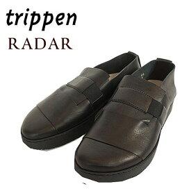 【20%off】トリッペン trippen レザー シューズ レディース スリッポン 革靴 【国内 正規品】 RADAR WAW81 BLK-BK ブラック