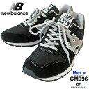 【2019 AW New】 new balance ニューバランス 996 スニーカー メンズ CM996 シューズ 靴 ランニングシューズ メッシュ スウェード レザー 軽量 【国内 正規品】 CM996 BP BLACK ブラック 黒