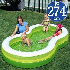 Bestway(ベストウェイ)8の字形ファミリープールGL274【 274 × 157 × 46 cm】The Green Lagoon Family Pool 54046