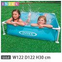 INTEX(インテックス)長方形ミニフレームプールKF122【 122 × 122 × 30 cm】Mini Frame Pool Blue 57173 正規品