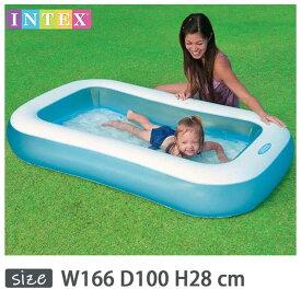 INTEX(インテックス)長方形ベビープールRB166【 166 × 100 × 28 cm】Rectangular Baby Pool 57403 正規品