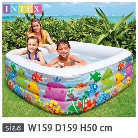 INTEX(インテックス)長方形アクエリアムプールAQ159【 159 × 159 × 50 cm】Swim Center Clearview Aquarium Pool 57471 正規品