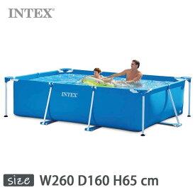 INTEX(インテックス)長方形フレームプールRF860【 260 × 160 × 65 cm】Rectangular Frame Pool 28271 正規品