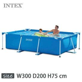 INTEX(インテックス)長方形フレームプールRF1080【 300 × 200 × 75 cm】Rectangular Frame Pool 28272 正規品