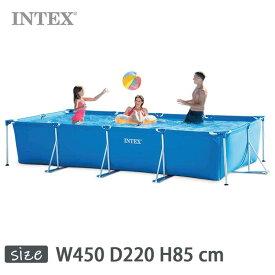 INTEX(インテックス)長方形フレームプールRF1590【 450 × 220 × 85 cm】Rectangular Frame Pool 28273 正規品