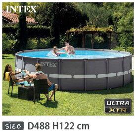 INTEX(インテックス)多角形ウルトラフレームプールUMP1648【 488 × 122 cm】Ultra Frame Pool 26321 正規品