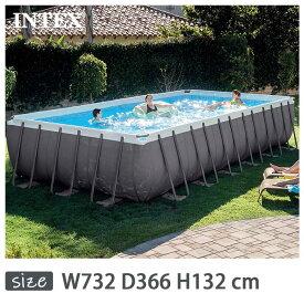 INTEX(インテックス)長方形ウルトラフレームプールUMP122452【 732 × 366 × 132 cm】Ultra Frame Pool 26361 正規品