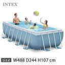 INTEX(インテックス)長方形プリズムフレームプールPF81642【 488 × 244 × 107 cm】Prism Frame Pool 26777