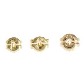 K18/K18PG/K18WG/Pt900ピアス用キャッチ2個1ペアでの販売選べるサイズ 金色 金種 地金のみニッケルフリー
