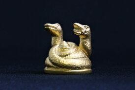 津田潔志作「金運の蛇神」純銀製24金鍍金
