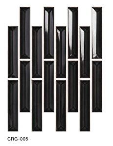 タイルの名古屋モザイク工業 クラフトタイル CRUGLAZE クルグレイズ CRG-005 145X30ボーダー