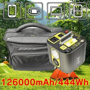 P06 ポータブル電源 蓄電池 大容量 126000mAh/466Wh コンパクトなのに大容量 カースタート機能付き 車の急なバッテリー上がりも怖くない