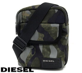 DIESEL ディーゼル X04010 PR027 H5254 F-CLOSE CROSS MILITARY CAMOU ショルダーバッグ カモフラージュ 迷彩 グリーン系 【送料無料】