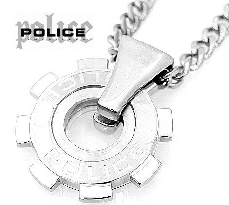 POLICE  ポリス ギアモチーフ  REACTOR ペンダント/ネックレス ステンレス 24232PSS01【送料無料】【05P03Dec16】
