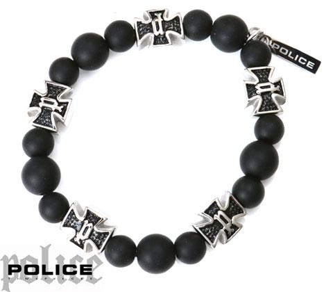 POLICE ポリス 26169BSS01 CROSSBALL ブレスレット/バングル ブラック×シルバー【送料無料】