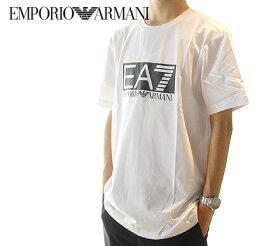 EMPORIO ARMANI エンポリオ アルマーニ 3GPT62 PJ03Z 1100 EA7 イーエーセブン ストレッチコットン Tシャツ メンズ 半袖 ロゴT ホワイト 【送料無料】
