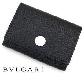 ef4079d1e271 BVLGARI ブルガリ 25740 CLASSICO クラシコ グレインレザー カードケース/名刺入れ カードホルダー ブラック【