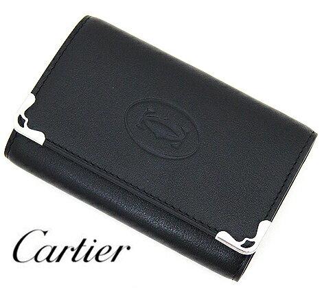 Cartier  カルティエ カボション カーフレザー ブラック 6連キーケース L3001359【送料無料】【05P03Dec16】
