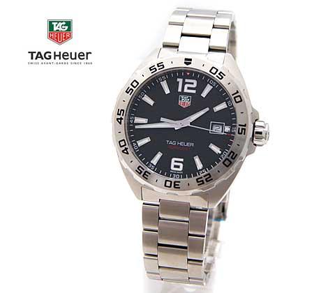 TAG Heuer タグホイヤー フォーミュラ1 F1 メンズ 腕時計 クォーツ 黒色文字盤×シルバー WAZ1112.BA0875【送料無料】【05P03Dec16】