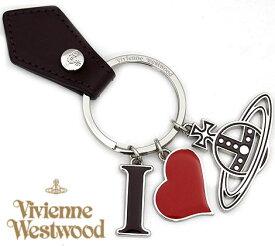 VivienneWestwood ヴィヴィアンウエストウッド 82030009 H401 I LOVE ORB キーリング/キーホルダー ハート オーブ シルバー×バーガンディー【送料無料】