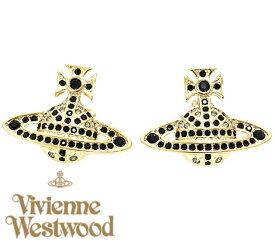 VivienneWestwood ヴィヴィアンウエストウッド 724751B/5 JACK BAS RELIEF GOLD ジャック ユニオンジャック アクセサリー ピアス オーブ ゴールド×ブラック 送料無料
