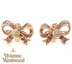 VivienneWestwood ヴィヴィアンウエストウッド 62010174 G114 ピアス アクセサリー GAIL リボン ピンクゴールド【送料無料】