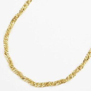 【送料無料・消費税込】 純金 ネックレス (K24)(セミロングサイズ・スクリュー)【smtb-k】