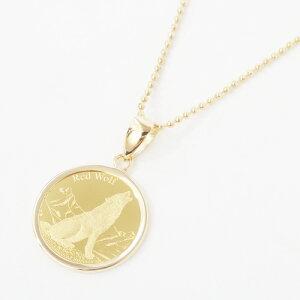レッド・ウルフ&カリフォルニア・コンドル純金(K24) コイン 金貨 ペンダント