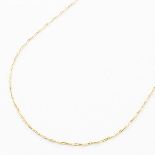 【送料無料】◇18金 K18 ネックレス 40cm◇スクリューチェーン【smtb-k】【楽ギフ_包装】