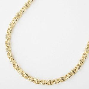 NEW!! 受注生産品【男女兼用】イタリア製・50cmのゆったりサイズ スカル18金 (K18)約11.3g ゴールドオーバル・スティック デザイン ネックレス