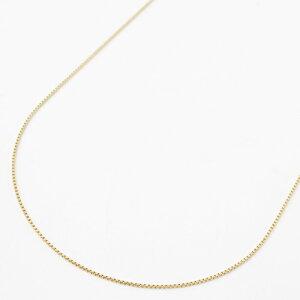 ◆送料無料・消費税込◆18金(K18)フリーサイズ チェーンネックレスベネチアン 50cm1.5g スライドチェーン