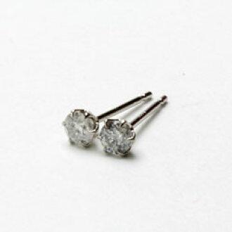 5f245e6b7b14d ★・★ luxurious differentiation memo platinum diamond pierced earrings (total  Pt900, diamonds 0.4ct) including a consumption tax