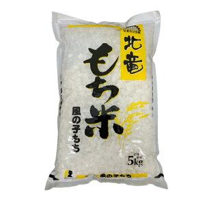 【令和元年産】北海道北竜町産 農薬節減米 風の子もち 白米 5kg 【送料無料】