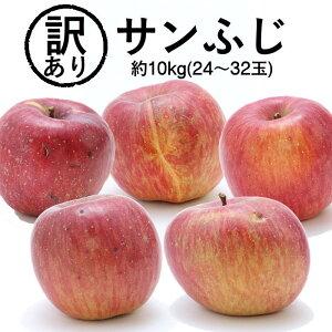 【長野県 JAみなみ信州】 りんご 訳ありサンふじ 約10kg(24〜32玉) R336