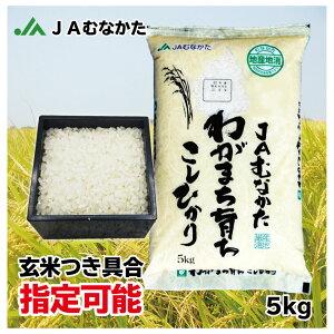【送料無料】玄米 注文を受けてから精米(発送日に精米します)JAむなかた産「こしひかり」5kg JAむなかた直売所直送 お米 ごはん 玄米つき具合指定できます