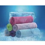 冷感タオル瞬冷お湯につけても振ってすぐに16℃のひんやり感!