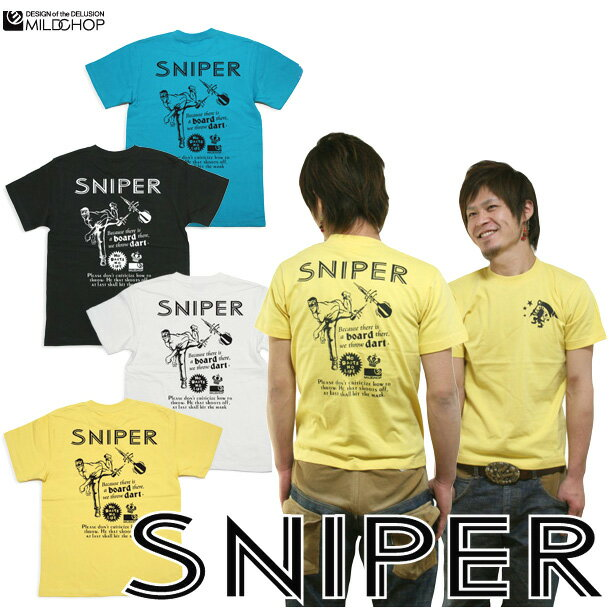 SNIPER/オリジナル半袖Tシャツ/ダーツ/ネット限定Tシャツ【cloth】MILDCHOP by JACA JACA 0620ます得5