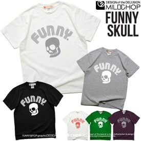 FUNNY SKULL/オリジナル半袖Tシャツ/ネット限定Tシャツ【cloth】MILDCHOP by JACA JACA送料