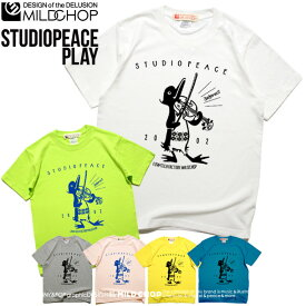STUDIO PEACE PLAY/オリジナル半袖Tシャツ/オリジナル/ロゴ/ロック/スカル/キャラクター/音楽/パロディ/ロゴ/シンプル/デザイン/メッセージ/ピース【cloth】MILDCHOP by JACA JACA